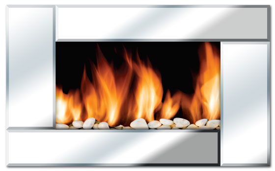 Nuvatek - Reflection wall mounted beveled mirror fireplace/heater by Even Glow Electric Fireplaces. Instruction manual available for download.