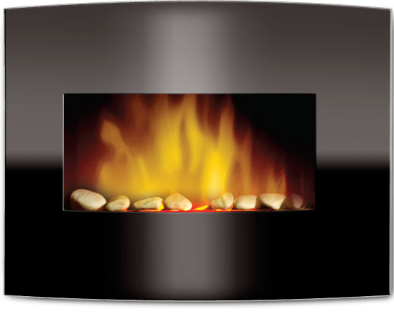 Even Glow Silhouette Arched Glass Electric Fireplace