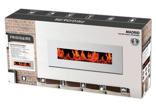 Nuvatek  - Madrid Wall Mount Electric Fireplace by Frigidaire. Instruction manual available for download.