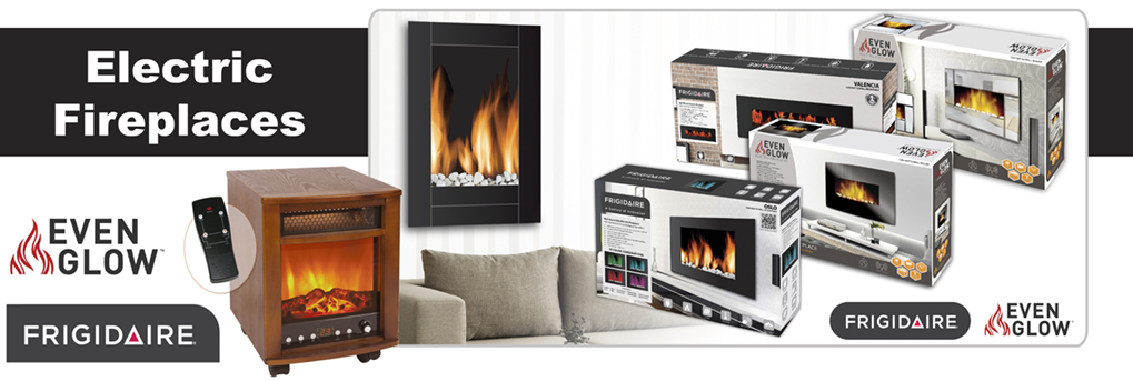 Nuvatek Frigidaire and Even Glow Electric Fireplaces